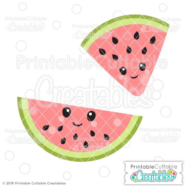 Cute Watermelon SVG File