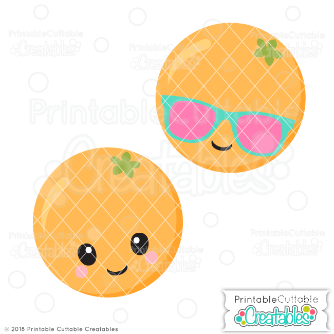 E388 Cute Orange SVG File