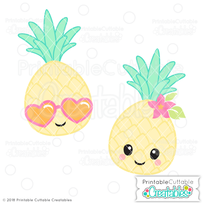 Cute Pineapple SVG File