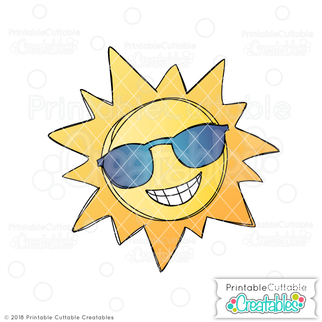 Doodle Cool Summer Sun FREE SVG Sketch File