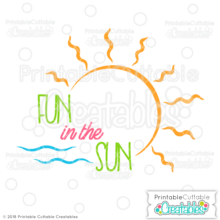 Fun in the Sun Title Free SVG File