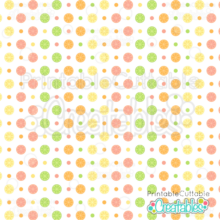 Summer Citrus Dot Digital Paper Free Seamless Pattern