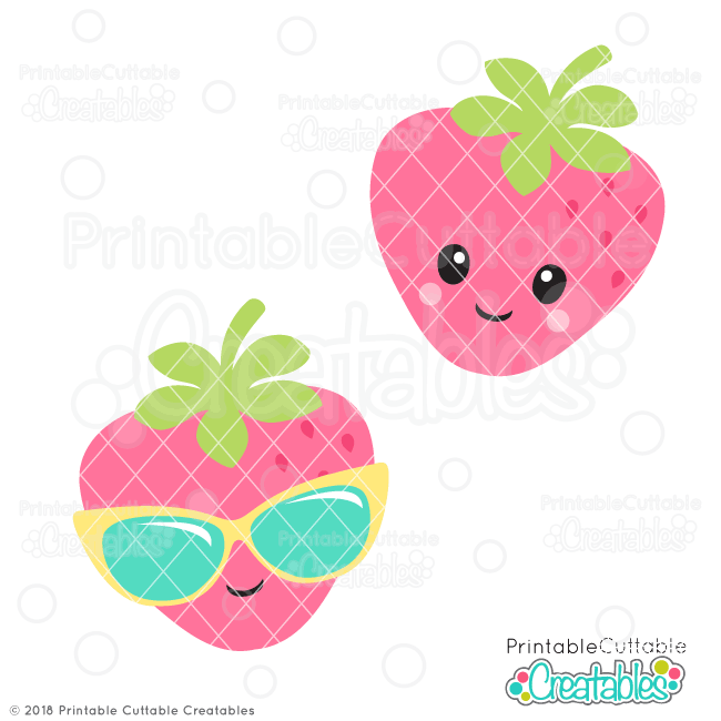 Cute Strawberry SVG File & Clipart