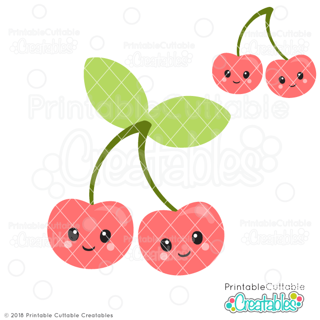 Cute Cherries SVG Files