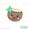 Cute Coconut Free SVG File