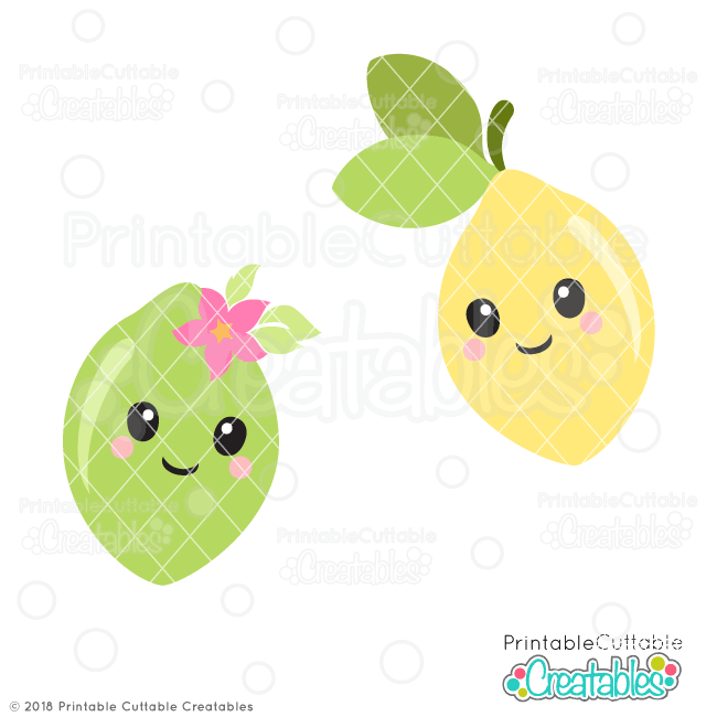 Cute Lemon & Lime SVG Files