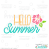Hello Summer SVG File