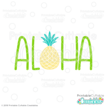 Aloha SVG File saying
