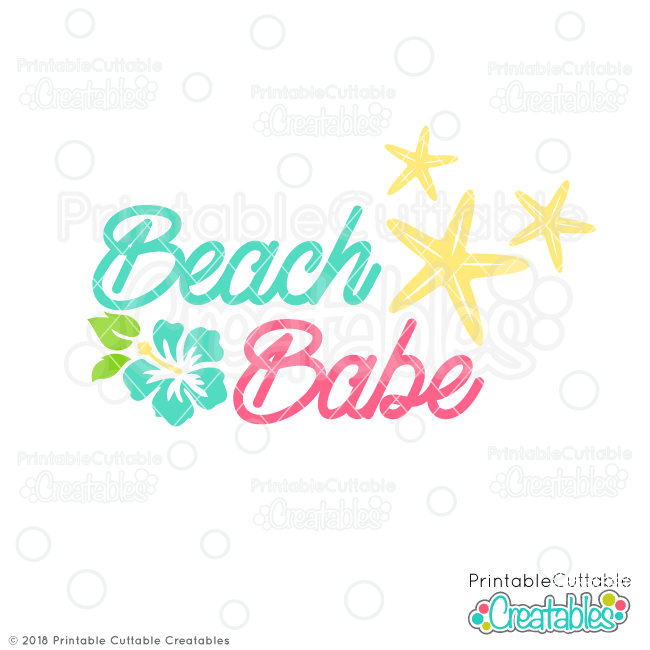 Beach Babe SVG File