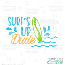 Surf's Up Dude Free SVG File