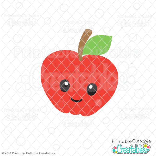 Happy Apple Free SVG File