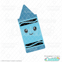 Happy Crayon SVG File