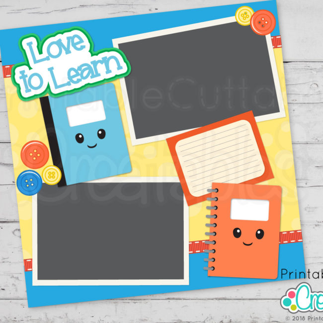 Cute Notebooks SVG Cut Files for Scrapbooking