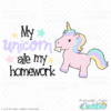 Unicorn Ate My Homework SVG File