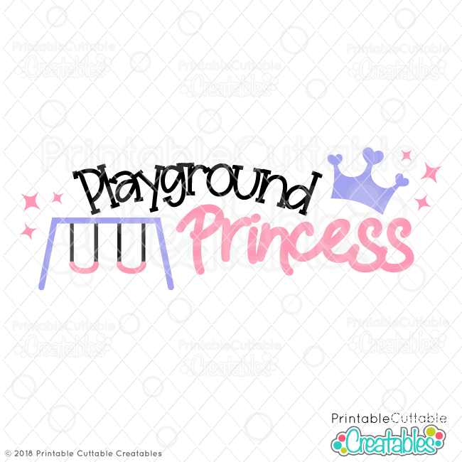 Playground Princess Free SVG File