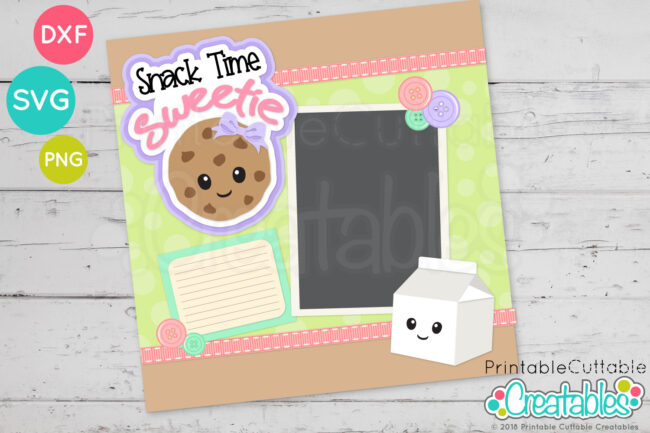 T090 Snack Time Sweetie SVG File scrapbooking