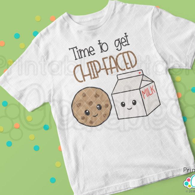 Time to Get Chip-Faced SVG File t-shirt design