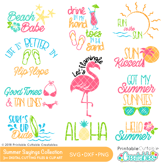 Summer Sayings SVG Files Bundle