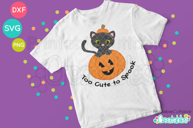 Cute Cat in Pumpkin SVG File