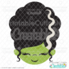 Cute Monster Bride Face SVG