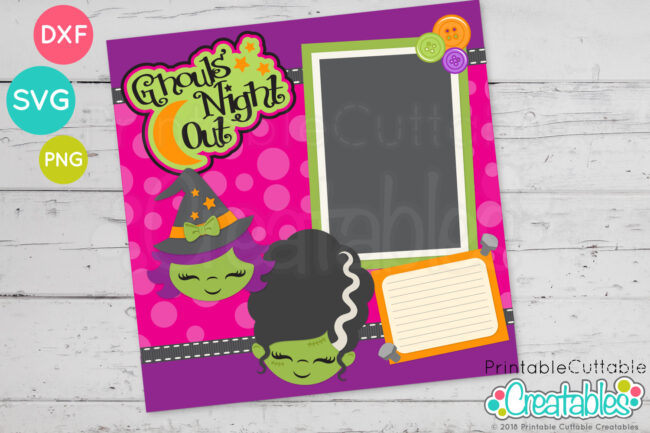 Cute Witch Face SVG Scrapbooking Cut File