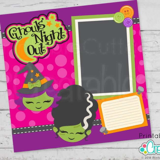Cute Witch Face SVG Scrapbooking Cut File