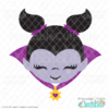 Cute Girl Vampire Face SVG File