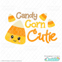 Candy Corn Cutie Free SVG File