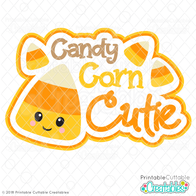 Happy Candy Corn SVG Scrapbook Title