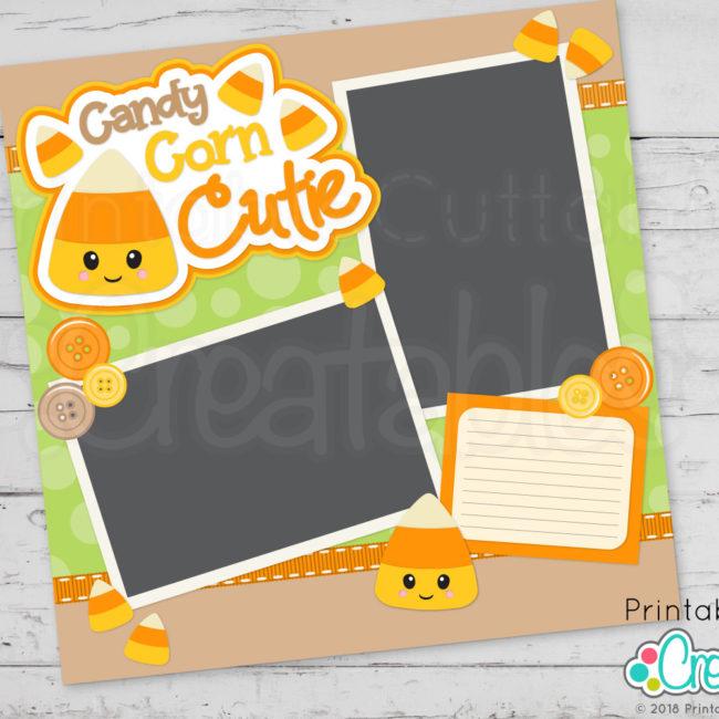 Happy Candy Corn Scrapbook Cut File