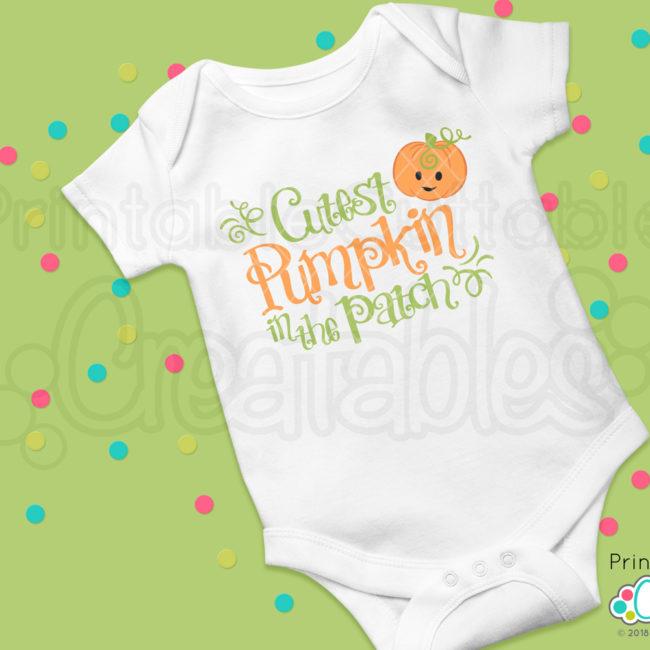 Cutest Pumpkin in the Patch SVG shirt design