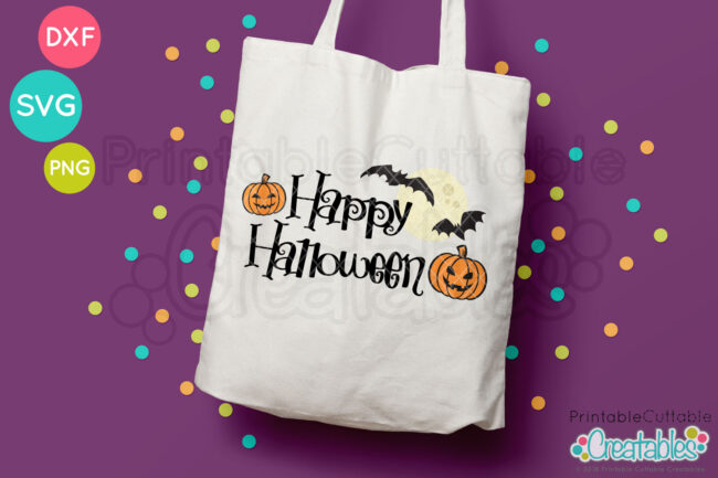 Happy Halloween FREE SVG title HTV design
