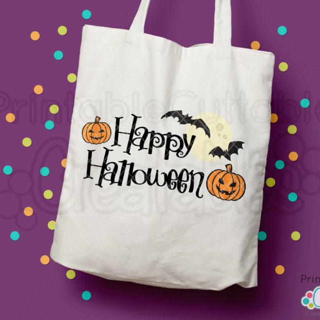 Happy Halloween FREE SVG title HTV design