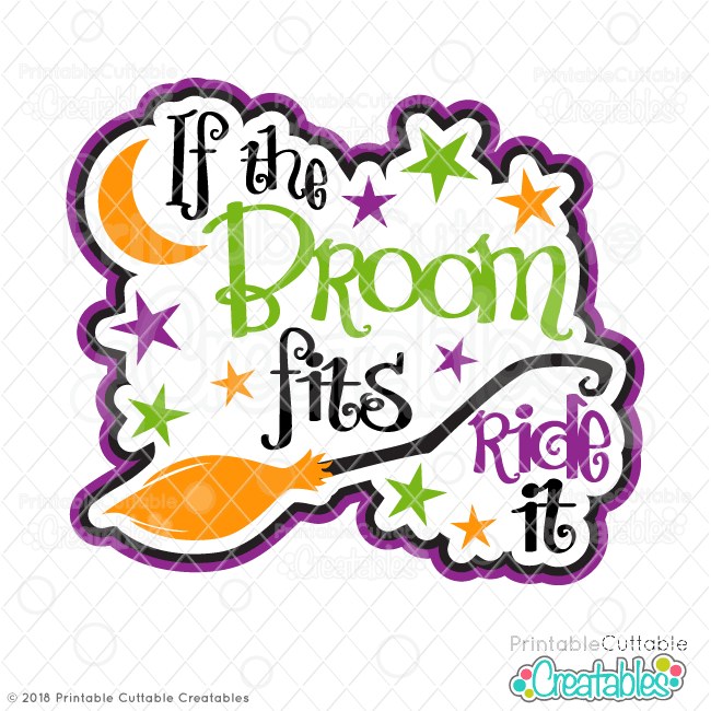 T095FB If the Broom Fits Free SVG File preview2