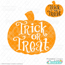 Trick or Treat Knockout Pumpkin FREE SVG File