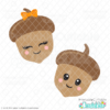 Cute Autumn Acorns FREE SVG Files