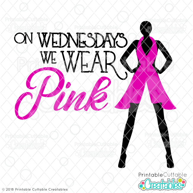 On Wednesdays We Wear Pink Breast Cancer SVG File