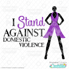 Stand Against Domestic Violence SVG File