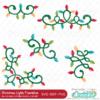 Christmas Lights Flourishes SVG Files Set