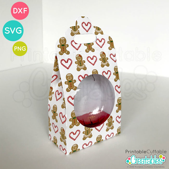 Flat Ornament SVG Gift Box Template