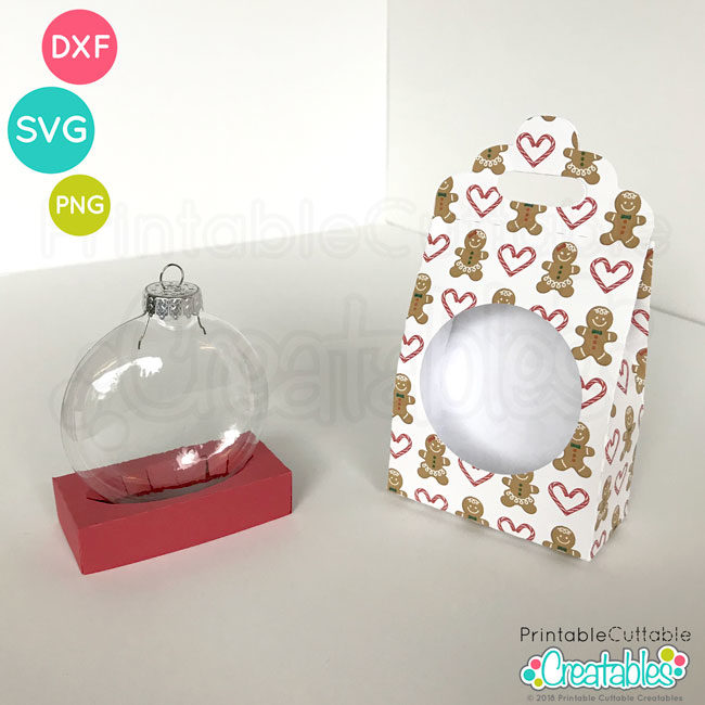 Disc Ornament Gift Box SVG FIle