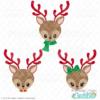 Christmas Reindeer Face SVG Files