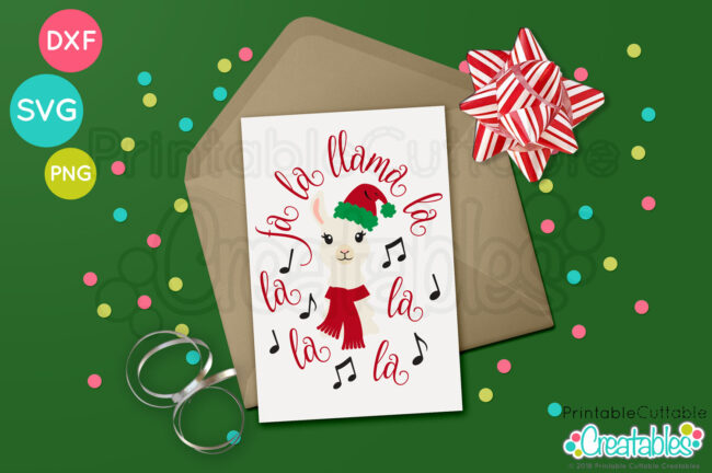 E426 Fa La Llama La Christmas SVG file preview