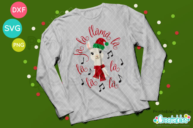 Fa La Llama La SVG Christmas t-shirt design
