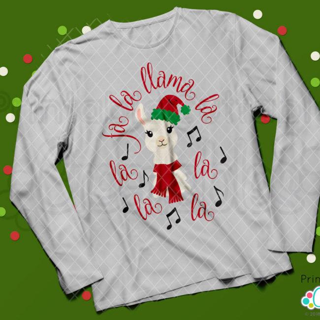 Fa La Llama La SVG Christmas t-shirt design