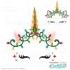 Christmas Lights Unicorn Face FREE SVG