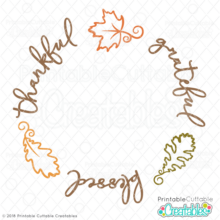 Thankful Grateful Blessed Free SVG file