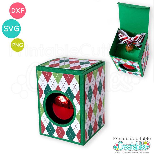 Round Ornament Box SVG