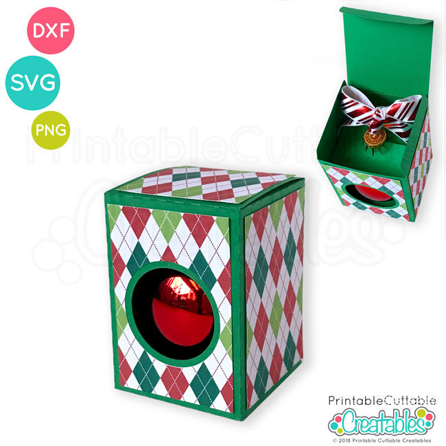 Round Ornament Box SVG