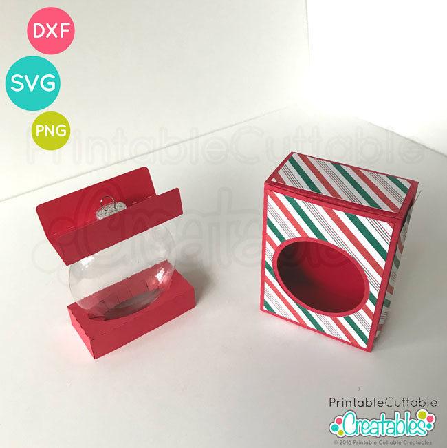 D020 Flat Disc Ornament Box SVG file preview2